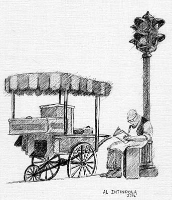 Old Pushcart Poster