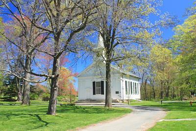 Old Quabbin Reservoir Church At Mount Holyoke Poster
