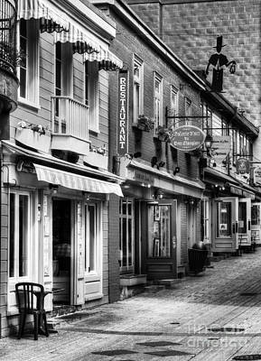 Old Quebec City 20 Bw Poster