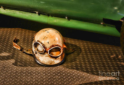Old Racing Helmet Poster