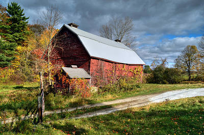 Old Red Barn - Berkshire County Poster