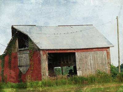 Old Red Barn Poster by Cassie Peters