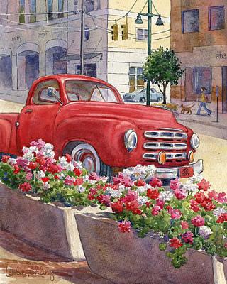 Old Red Poster by Leslie Fehling