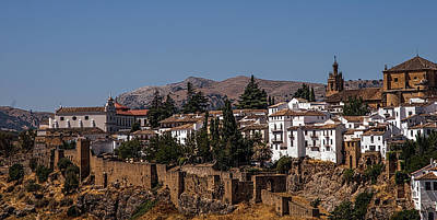 Old Ronda Panoramic. Andalusia. Spain Poster by Jenny Rainbow