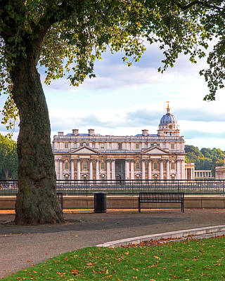 Old Royal Naval College Greenwich Poster by Gill Billington