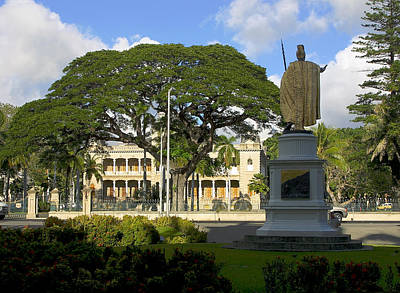 Old Royal Palace Honolulu Poster