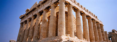 Old Ruins Of A Temple, Parthenon Poster by Panoramic Images