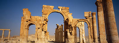 Old Ruins On A Landscape, Palmyra, Syria Poster by Panoramic Images