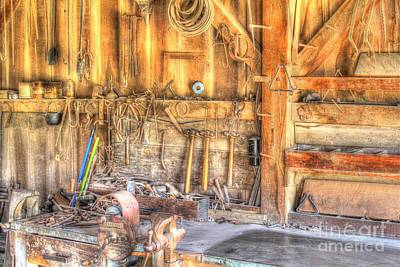 Old Rustic Workshop Poster by Jimmy Ostgard