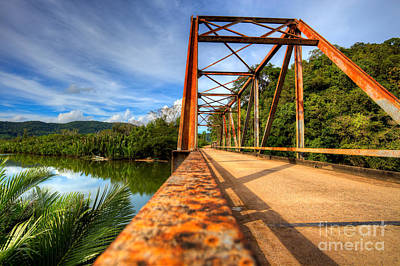 Old Rusty Bridge In Countryside Poster