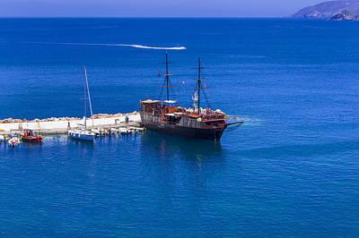 Old Sailing Ship In Bali Poster