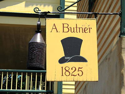 Winston-salem Nc - Old Salem Hat Shop Poster by Frank Romeo