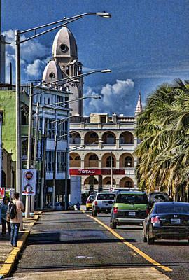 Old San Juan Cityscape Poster by Daniel Sheldon