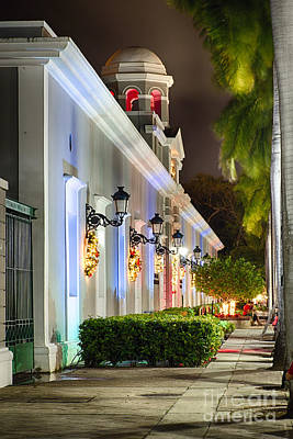 Old San Juan Holiday Impression II Poster by George Oze
