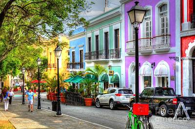 Old San Juan Street Poster