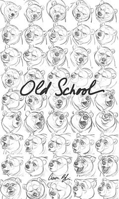 Poster featuring the digital art Old School by Aaron Blaise