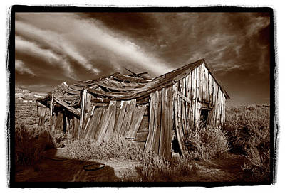 Old Shack Bodie Ghost Town Poster by Steve Gadomski