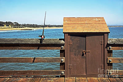 Poster featuring the photograph Old Shed On Ventura Pier by Susan Wiedmann