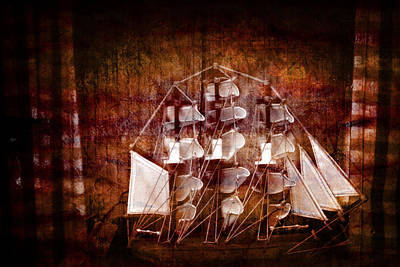 Old Ship Poster by Tommytechno Sweden