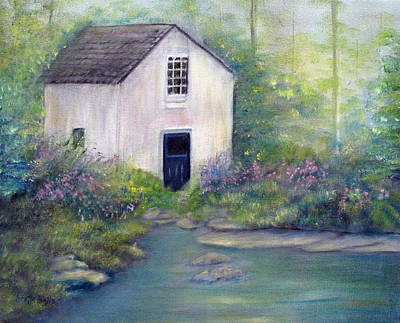 Old Springhouse Poster by Loretta Luglio