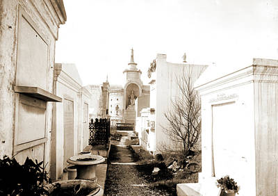 Old St. Louis Cemetery, New Orleans, La, Cemeteries Poster by Litz Collection