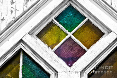 Old Stained Glass Windows Poster