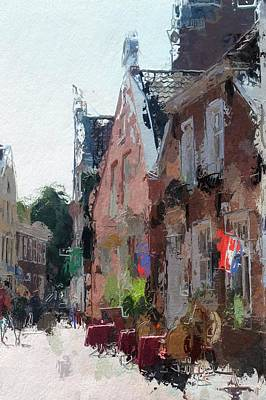 Old Street Cafe Poster by Steve K