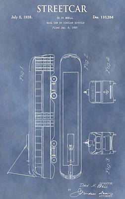 Old Streetcar Patent Poster by Dan Sproul