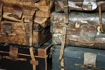 Old Suitcases Poster by Chevy Fleet