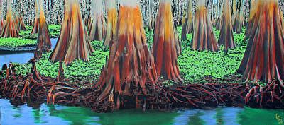 Poster featuring the painting Old Swampy by Deborah Boyd