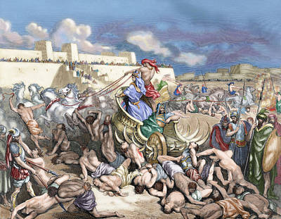 Old Testament Siege Of Rabbah. David Attacks The Ammonites Poster
