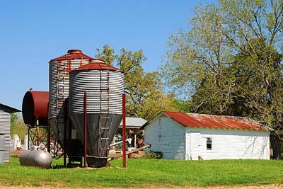Old Texas Farm Poster