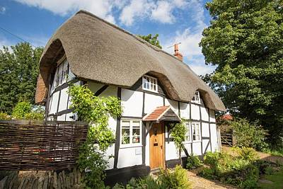 Old Thatched House In Elmley Castle Poster by Ashley Cooper
