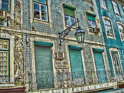 Old Tiled Facade In Lisbon Poster
