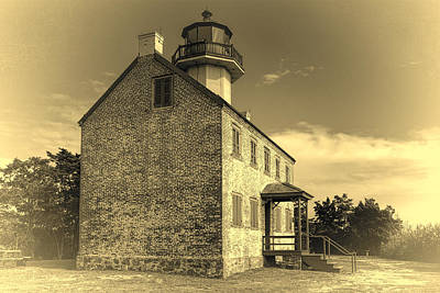 Old Time East Point Light Poster by Joan Carroll