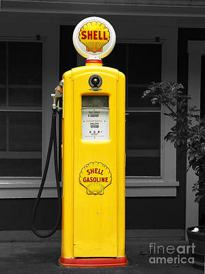 Old Time Gas Pump Poster by David Lawson