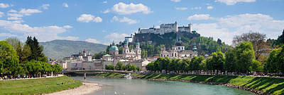 Old Town At Salzach River Poster by Panoramic Images