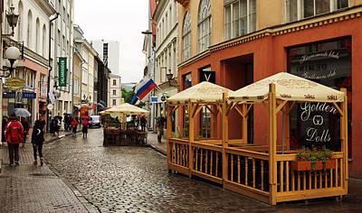 Old Town In Tallinn Poster by Sergei Zinovjev