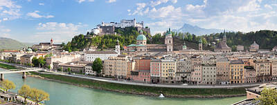 Old Town With Hohensalzburg Castle, Dom Poster