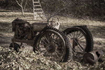 Poster featuring the photograph Old Tractor by Lynn Geoffroy