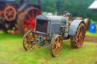 Poster featuring the photograph Old Tractor Print by B Wayne Mullins