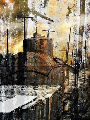 Old Train Yard II Poster by Robert Ball