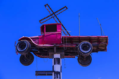 Old Truck With Cross Poster by Garry Gay