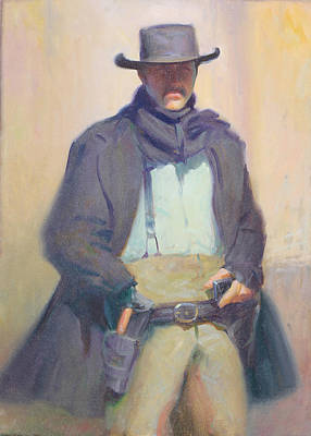 Old Tucson Gun Fighter Poster by Ernest Principato