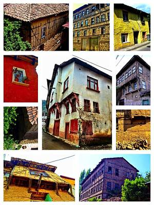 Poster featuring the photograph Old Turkish Houses by Zafer Gurel
