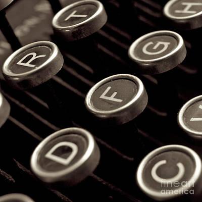 Old Typewriter Poster by Bernard Jaubert