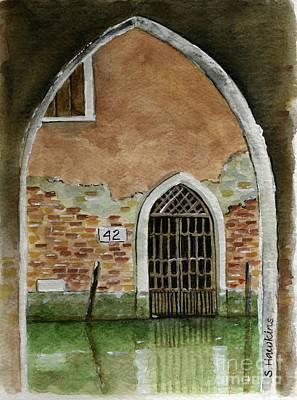 Old Venetian Doorway Poster