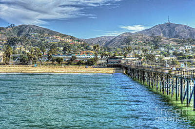 Old Ventura City From The Pier Poster by David Zanzinger