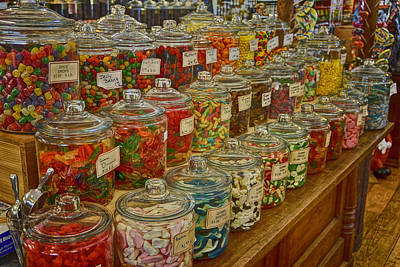 Old Village Mercantile Caledonia Mo Candy Jars Dsc04014 Poster by Greg Kluempers
