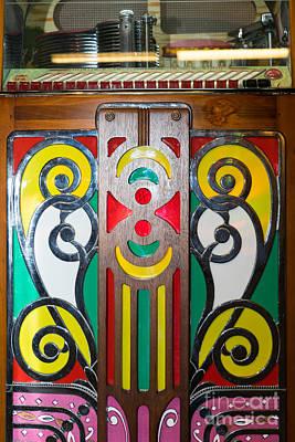 Old Vintage Rock Ola Jukebox Dsc2793 Poster